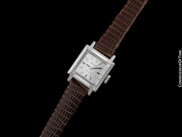 1969 Rolex Precision Vintage Pre-Cellini Ladies Watch, Ref. 2189 - 18K White Gold