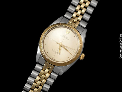 1965 Rolex Oyster Perpetual Vintage Mens 2-Tone Watch, Stainless Steel & 14K Gold - The Zephyr