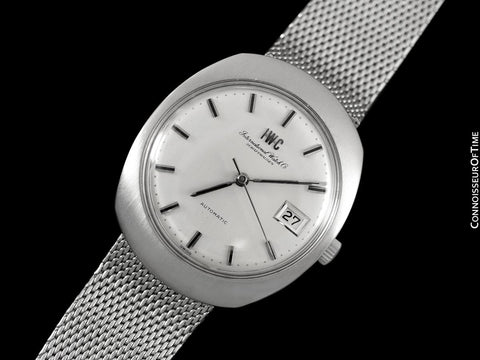 c. 1969 IWC Vintage Mens Watch, Cal. 8541 Automatic, Silver Dial with Date - Stainless Steel