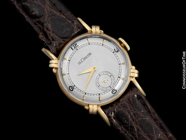1947 Jaeger-LeCoultre Vintage Mens Midsize Watch, Beautiful Case - 14K Gold