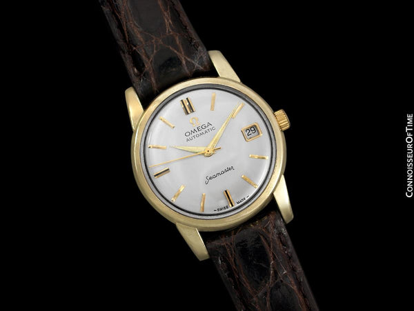 1961 Omega Seamaster Mens Vintage Watch with 562 Movement, Automatic, Date - 14K Gold & Stainless Steel