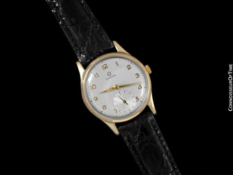 1951 Omega Vintage Mens 30T2 Based Dress Watch - 9K Solid Gold