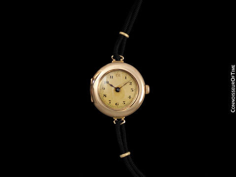 1920's Rolex Ladies Vintage Art Deco Dial Watch - 15K (14K) Gold