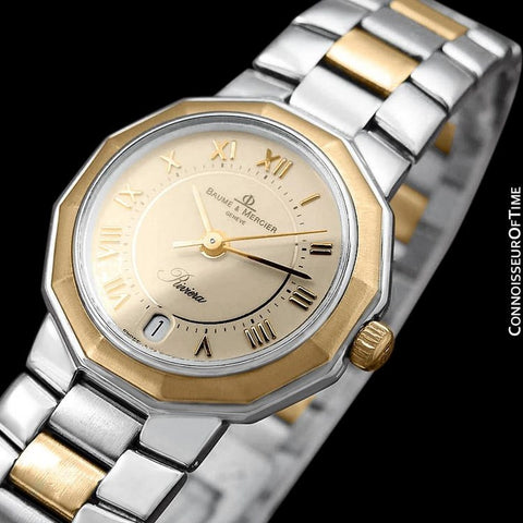 Baume & Mercier Ladies Riviera Two-Tone Watch - Stainless Steel & 18K Solid Gold