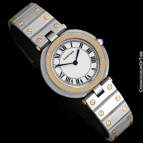 Cartier Santos Vendome Mens Midsize Watch - Stainless Steel & 18K Gold