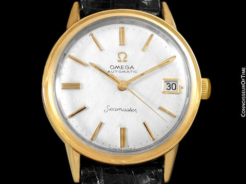 1966 Omega Seamaster Rare Cal. 560 Vintage Mens Watch, Automatic, Date - 18K Gold Plated