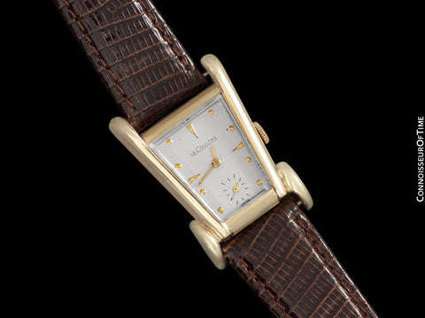 1955 Jaeger-LeCoultre Vintage Mens Watch, Rare Case, 10K Gold Filled, Grasshopper - The Aristocrat