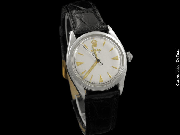1953 Rolex Mens Vintage Oyster Precision Watch, Stainless Steel - Classic Design