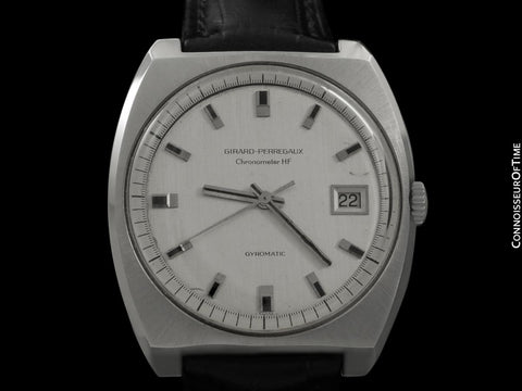 1969 Girard Perregaux Vintage HF High Frequency Automatic Chronometer, Date - Stainless Steel