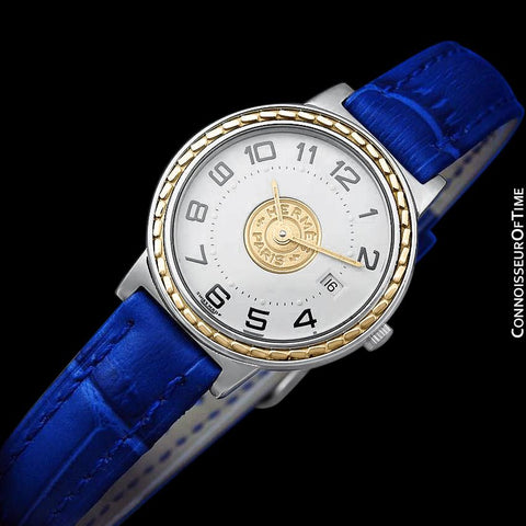 Hermes Sellier Ladies Watch - Stainless Steel & 18K Gold