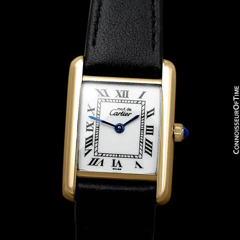 Cartier Ladies Tank Watch - Gold Vermeil, 18K Gold over Sterling Silver