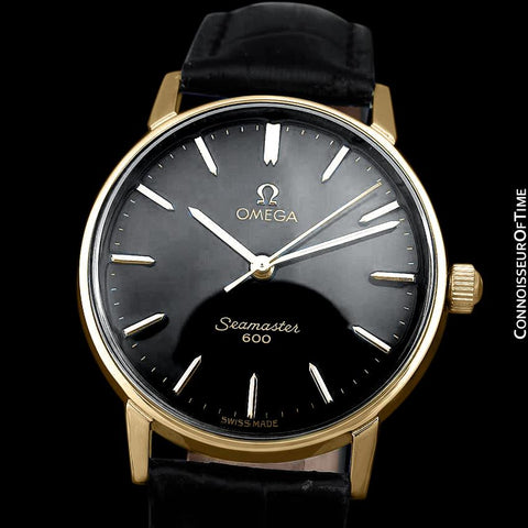 1968 Omega Seamaster 600 Vintage Mens Handwound Watch - 18K Gold Plated & Stainless Steel
