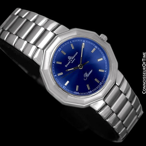 Baume & Mercier Mens Riviera Watch with Royal Blue Dial - Stainless Steel