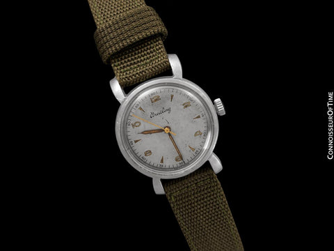 1945 Breitling Vintage Mens Waterproof Style Watch - Stainless Steel