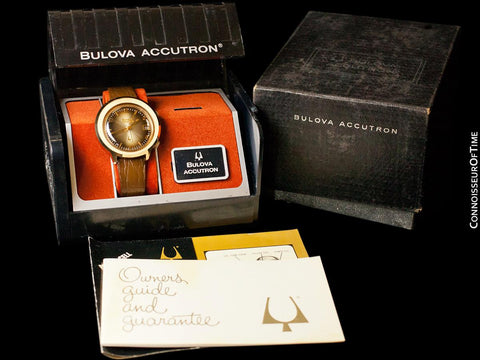 1973 Bulova Accutron Astronaut Mark II Retro Mens GMT Watch, 10K Gold-Filled - Like New-Old-Stock
