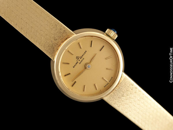 Baume & Mercier Vintage Ladies Bracelet Watch with Box & Papers - 14K Gold