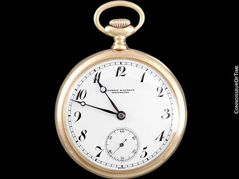 c. 1915 Vacheron & Constantin for Edwards & Le Bron Pocket Watch - 44.5MM, 14K Gold