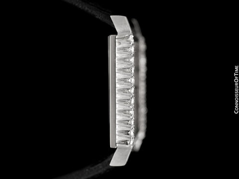 1960's Patek Philippe Vintage Mens Midsize Handwound Watch, Ref. 3519 - 18K White Gold & Diamonds