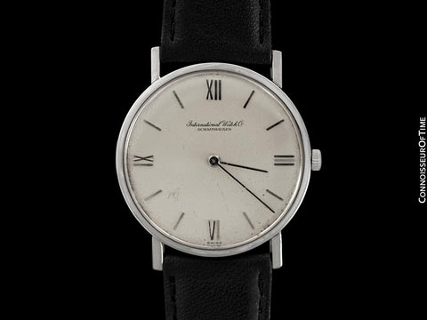 1972 IWC Vintage Mens Dress Ultra Thin Watch, Caliber 185 - 18K White Gold