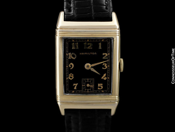 1940 Hamilton Otis Reverso Vintage Mens Watch - 14K Gold Filled