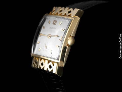 1950 Jaeger-LeCoultre Vintage Mens Watch, 18K Gold - Special Model