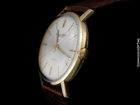 1963 IWC Vintage Full Size Mens Tropical Case Watch, Cal. 854 Automatic - 14K Gold & Stainless Steel