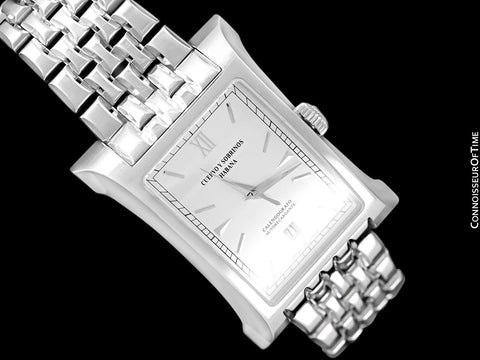 "Cuervo y Sobrinos Esplendidos Mens Large ""Eiffel Tower"" Bracelet Watch, Stainless Steel - A2412/2"