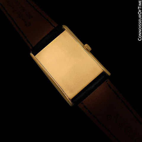 1973 Omega De Ville Vintage Mens Midsize Dress Watch - 18K Gold Plated