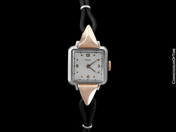 1946 Rolex Vintage Ladies 2-Tone Dress Watch - Stainless Steel & 18K Rose Gold