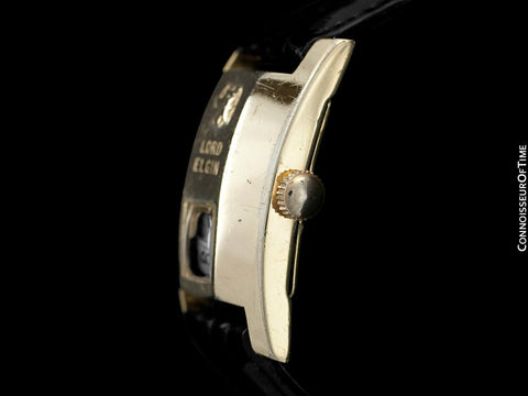 "1950's Lord Elgin Direct Read ""Elvis Presley"" Jump Hour Watch - 14K Gold Filled"
