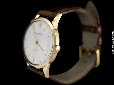 1963 IWC Vintage Mens Full Size Watch, Cal. 853 Automatic - 18K Gold