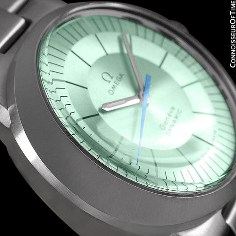 1960's Omega Dynamic Vintage Mens Watch with Tiffany Blue/Seafoam Dial - Stainless Steel
