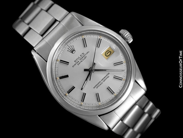 1965 Rolex Mens Vintage Datejust with Pie Pan Dial - Stainless Steel