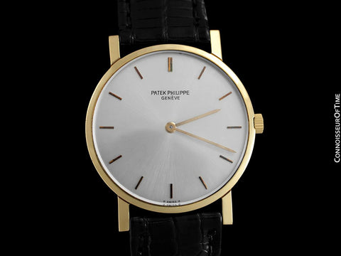 "1965 Patek Philippe Vintage Mens Midsize ""Ultra Thin"" Wristwatch, Ref. 3470 - 18K Gold"