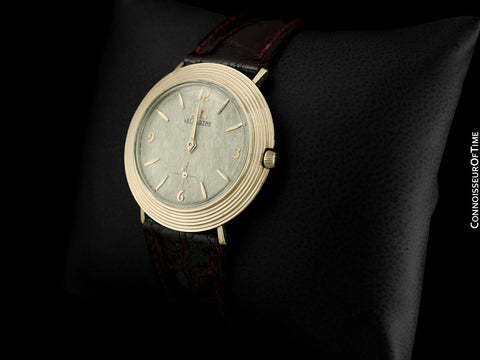 1961 Jaeger-LeCoultre Vintage Mens Modernist Full Size Dress Watch - 14K Gold