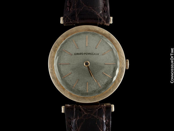 1961 Girard Perregaux Vintage Mens Midsize Modernist Watch - 14K Gold