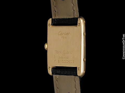 Cartier Ladies Tank Louis Quartz Watch - Solid 18K Gold