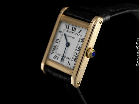 Cartier Tank Mens Midsize Quartz Watch, Francaise Style - 18K Gold