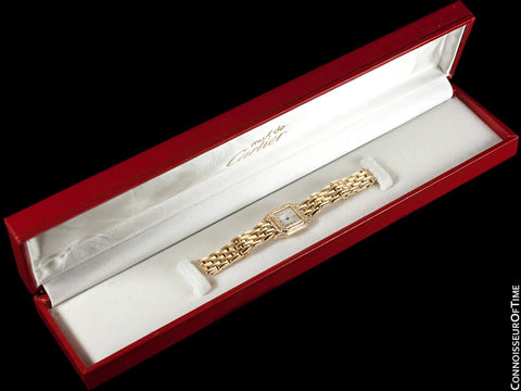 Cartier Panthere Mini (Panther) Special Edition Ladies Watch - 18K Gold & Cartier Factory Set Diamonds