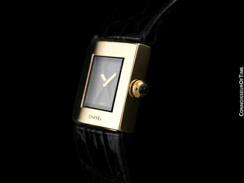 Chanel Matelasse Ladies Square Watch - 18K Gold