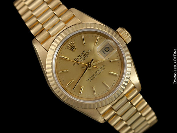 Rolex Ladies President Datejust, Champagne Dial, 69178 - 18K Gold