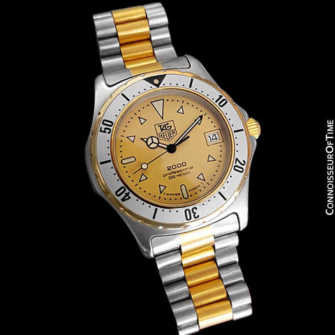 TAG Heuer Professional 2000 Mens Diver Watch, 974.013 - Stainless Steel & 18K Gold Plated
