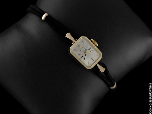 1960's Rolex Vintage Ladies Dress Watch - 14K Gold