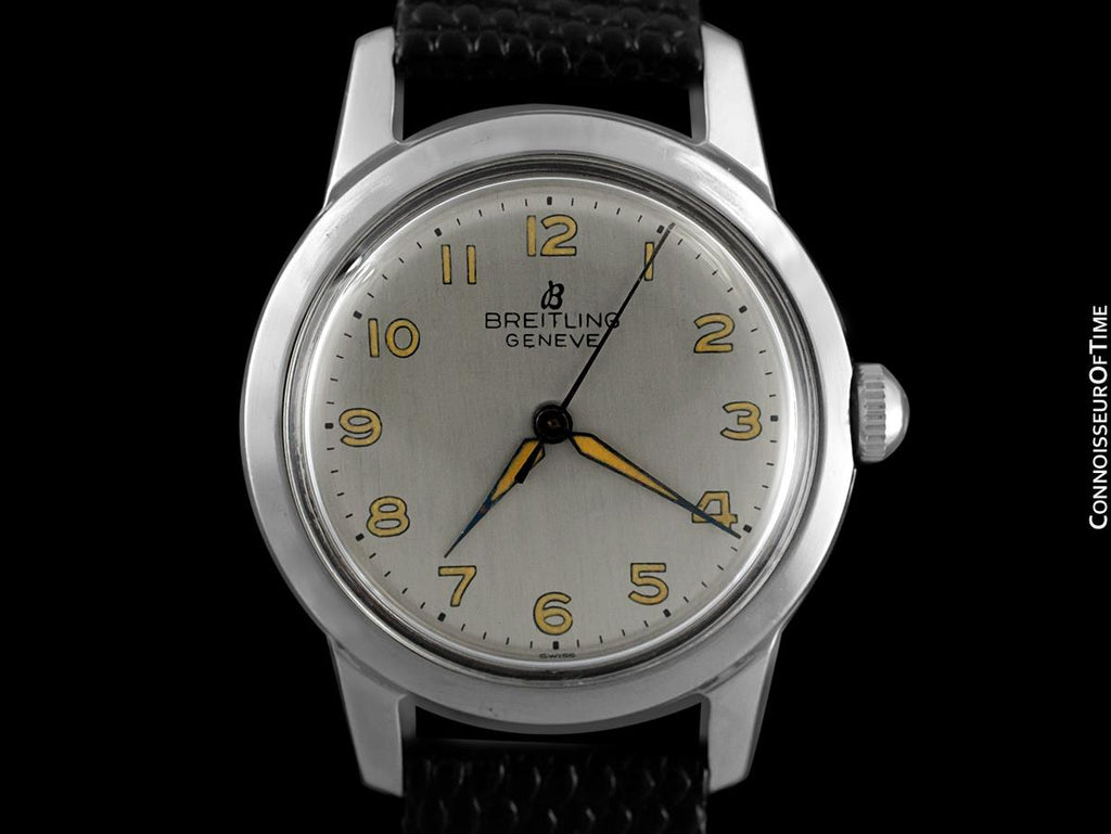 ecb3c01fdc5 ... 1947 Breitling Vintage Mens Midsize Military Style Watch - Stainless  Steel