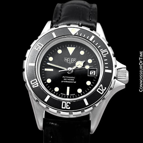 "Heuer (Tag Heuer) Vintage Ladies ""Bo Derek"" Submariner Automatic Divers Watch - Stainless Steel"