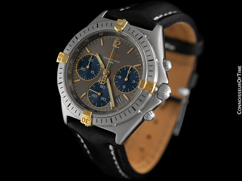Breitling Windrider Chrono Sextant Mens Chronograph Watch, Stainless Steel & 18K Gold - B55045