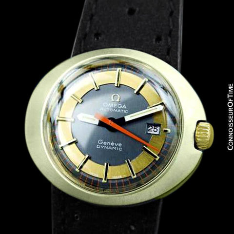 1960's Omega Dynamic Vintage Ladies Automatic Watch - 18K Gold Cap & Stainless Steel