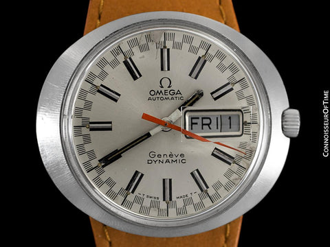 1960's Omega Dynamic Vintage Mens Watch with Racing Dial, Automatic, Day Date - Stainless Steel
