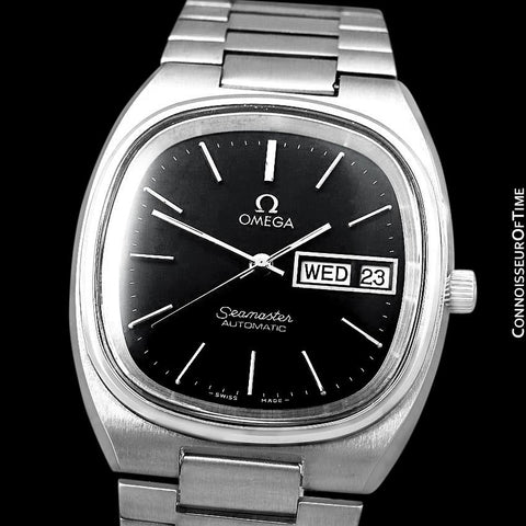 1978 Omega Seamaster Vintage Mens TV Watch, Automatic, Day Date - Stainless Steel