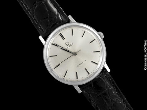1967 Omega Geneve Vintage Mens Handwound Dress Watch - Stainless Steel